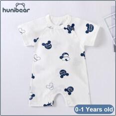[Hunibear] Áo liền quần chất liệu cotton mỏng nhẹ thoáng mát thân thiện với làn da, phù hợp cho trẻ 0-1 năm tuổi