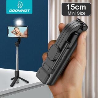 Gậy Selfie Mini DoomHot Gậy Chụp Ảnh Tự Sướng Bluetooth Từ Xa Giá Để Bàn, Gậy Selfie Giá Đỡ Kéo Dài Di Động Bộ Ổn Định Chống Rung Điều Chỉnh Giá Đỡ Xoay 360 Thanh Thần Thánh Tự Hẹn Giờ Với Đèn LED Lấp Đầy thumbnail