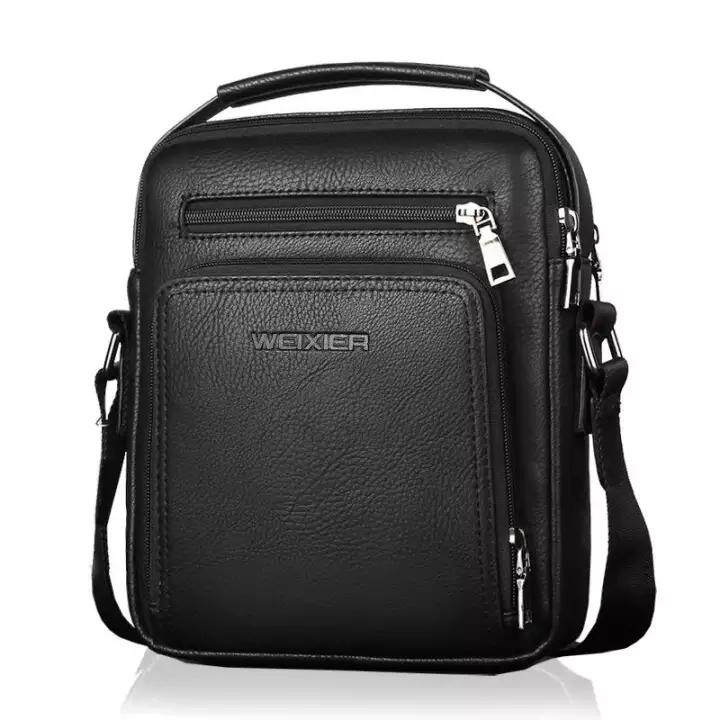 Men Vintage Shoulder Bags Large Capacity Multi-Fonction Leather Casual Messenger Satchel Bag Fashion Handbag