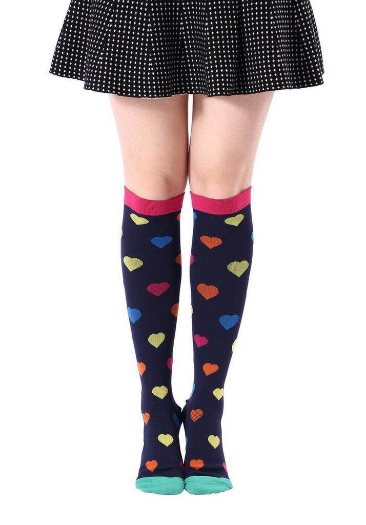 a528113637 Bigood Women Compression Socks Stockings for Nurse,Better Blood Circulation  S/M Rose Red