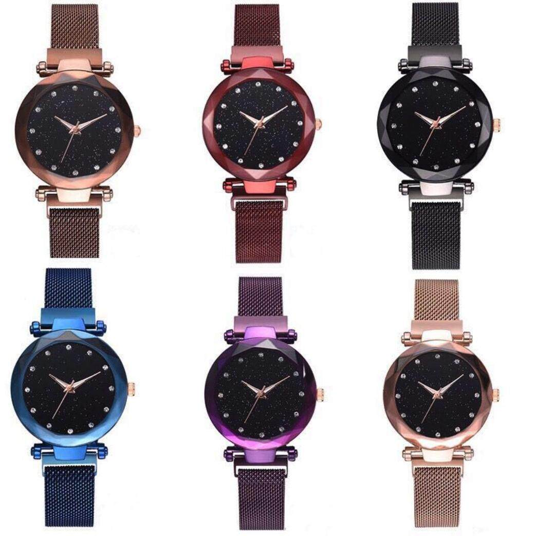 READY STOCK Women Watch Watches Starry Sky Magnetic Strap Lazy Girl Watch Jam Tangan Wanita Perempuan Malaysia