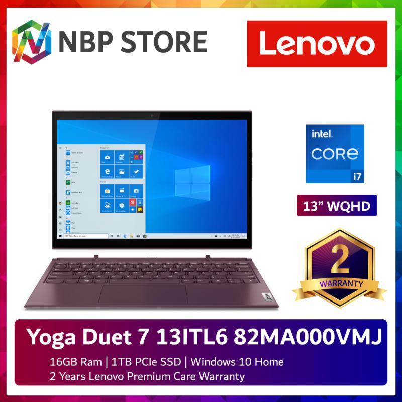 Lenovo Yoga Duet 7 13ITL6 82MA000VMJ 13 WQHD Touch Laptop Orchid ( i7-1165G7, 16GB, 1TB SSD, Intel, W10 ) Malaysia