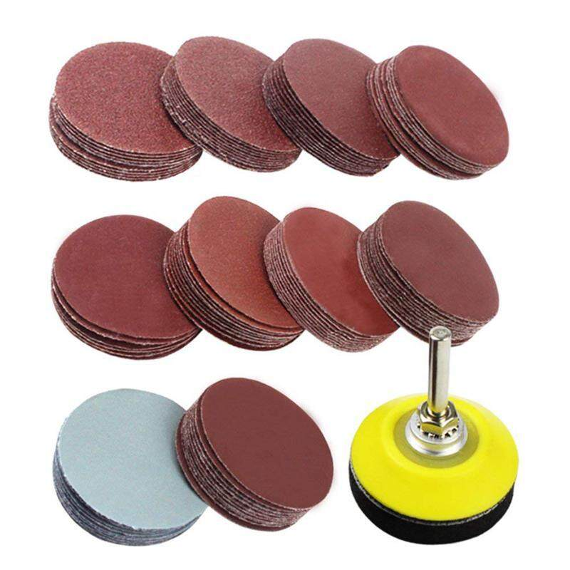 2 inch 100PCS Sanding Discs Pad Kit for Drill Grinder Rotary Tools with Backer Plate 1/4inch Shank Includes 80-3000 Grit Sandpapers
