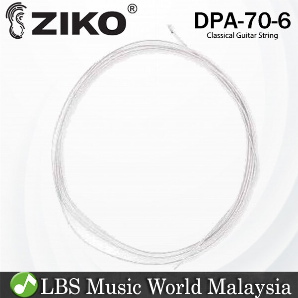 Ziko DPA-70 Classical Loose String 6th Nylon Core Plated Cooper Bright Rich Tone (DPA70) Malaysia