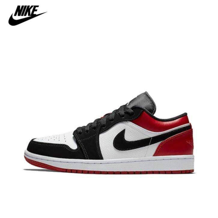 online store 69fdc 5b2fa Nike men s Shoes Women s Shoes Air Jordan1 Low Black Toe Black and Red Toe  AJ1 Low
