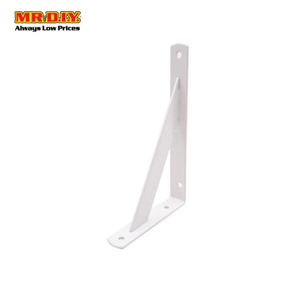 MR.DIY Heavy Duty Stainless Steel L-Shaped Wall Shelf Support Bracket (20.5cm x 12cm)