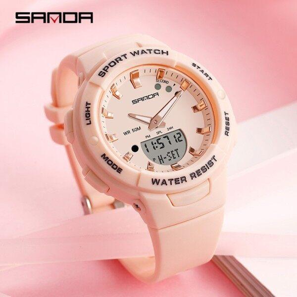 Sanda Women Watch Waterproof Luxury Fashion Multifunctional Luminous Chronograph Outdoor Womens Watch Malaysia