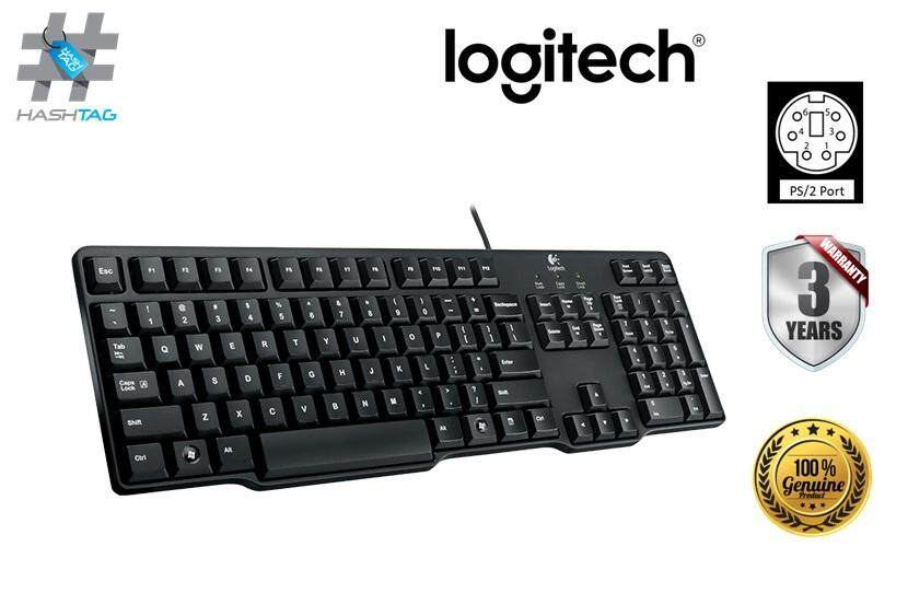 Logitech Classic K100 PC Keyboard PS/2 Connection-Black Malaysia