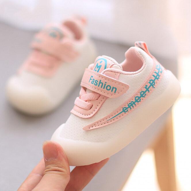 Giày Trẻ Em Theo Xu Hướng Giày Đi Bộ Cho Bé Trai Bé Gái Giày Cho Bé Tập Đi 10 Tháng Thời Trang Đế Mềm Chống Trượt Bằng Da Màu Trắng Chống Đá 0-1-2 Tuổi giá rẻ