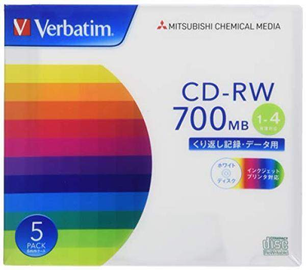 Verbatim Verbatim repeatedly for recording CD-RW 700MB 5 sheets white printable 1-4 speed SW80QP5V1