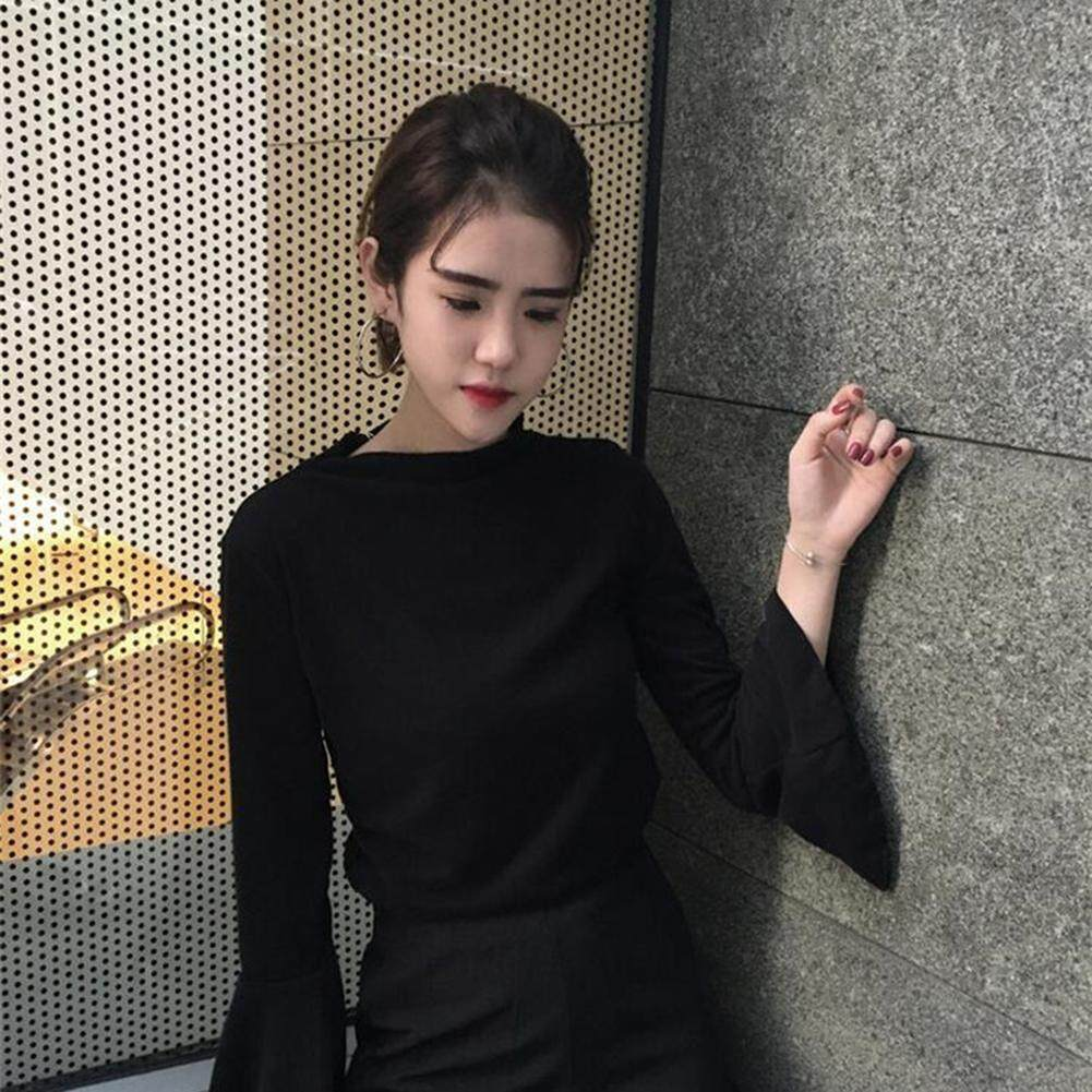 Fashion Spring Daily Flare Sleeve T-shirt Women Sweet Bottoming Tops 917320add