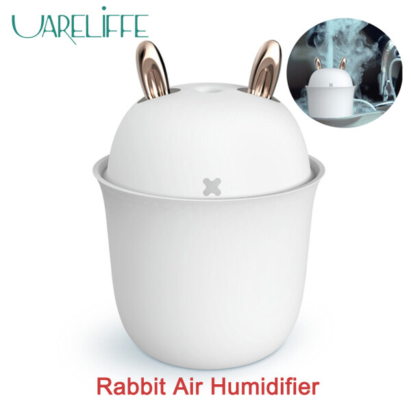 Xiaomi Ecological Chain Uareliffe  200ml USB Cute Rabbit Air Humidifier 2 Gears Humidification Mode Mini Ultra-Silent USB Car Humidificador With Shutdown Timer Fuction Dumping And Leak Proof Air Purifier Mist Maker Home Office Use