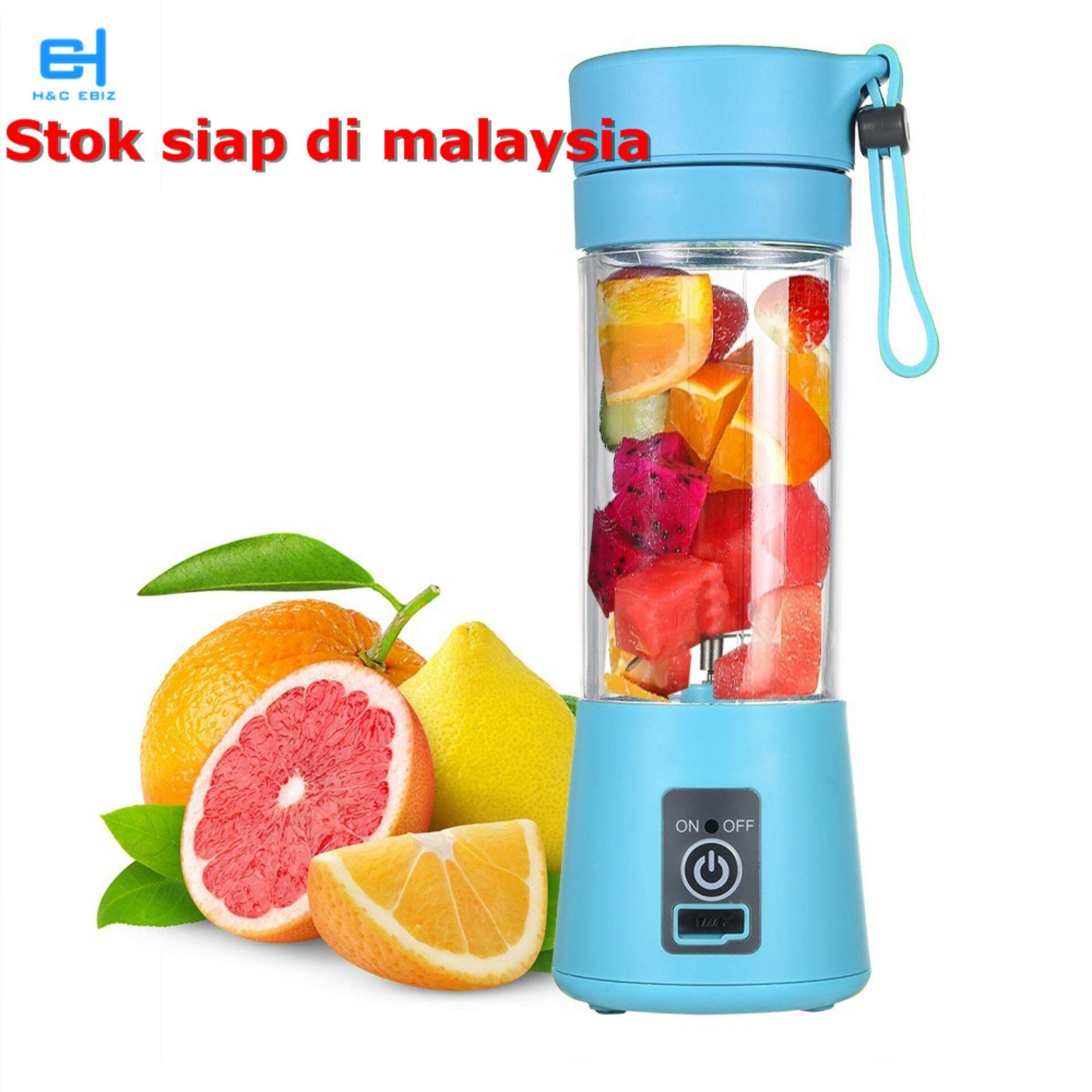 (ready Stock In Malaysia)mini Usb Rechargeable 4 /6 Blade Smoothies Blender Juice Cup Blender Healthy Drinking Vegetable Kitchen Tool For Mother/baby Gift By H&c Ebiz.