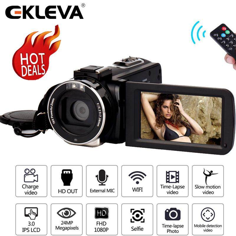 EKLEVA Video Camera Camcorder 4K/1080P Ultra HD Digital WiFi Camera 48 0MP  3 0 inch Touch Screen IR Night Vision 16X Digital Zoom Recorder Vlogging