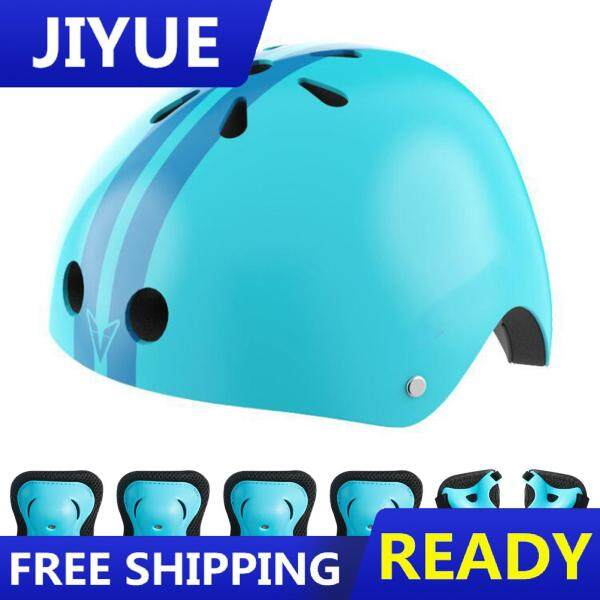 7 in 1 Kids Protective Gear Set Helmet Knee Pads Elbow Pads and Wrist Guards for Skating Rollerblade Scooter