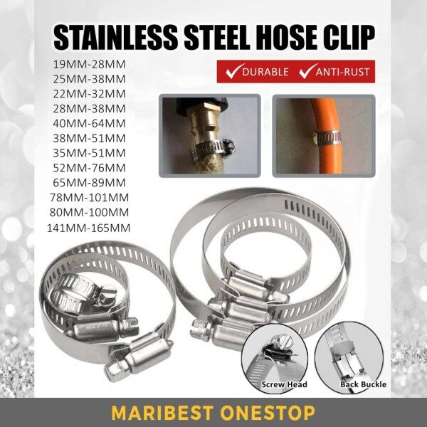 Stainless Steel Hose Clip Tri Clip Durable Fuel Lock Pipe Tube Fastener Anti-Rust
