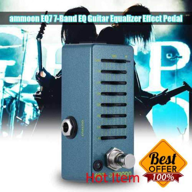 ammoon EQ7 Mini Guitar Equalizer Effect Pedal 7-Band EQ Aluminum Alloy Body True Bypass Malaysia