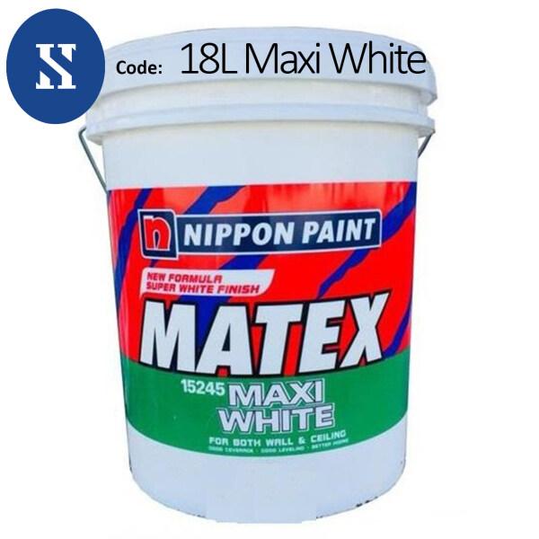 18 Liter (White Colour) NIPPON Paint Super Matex Maxi White 15245