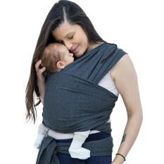 Baby Carrier Sling Cho Trẻ Sơ Sinh Mềm Quấn Trẻ Sơ Sinh Bọc Thoáng Khí Hipseat Cho Con Bú Sinh Con Bú Thoải Mái Che Màu Xám Đậm