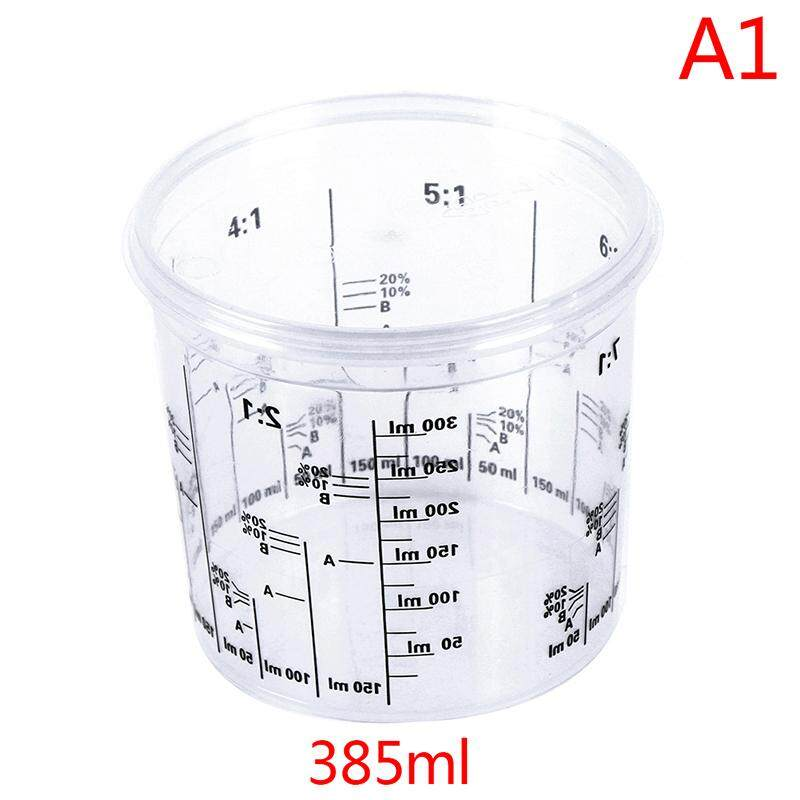zhaoyanping Plastic Paint Mixing Cup PP Hard Plastic Tune Paint Cup with Cover