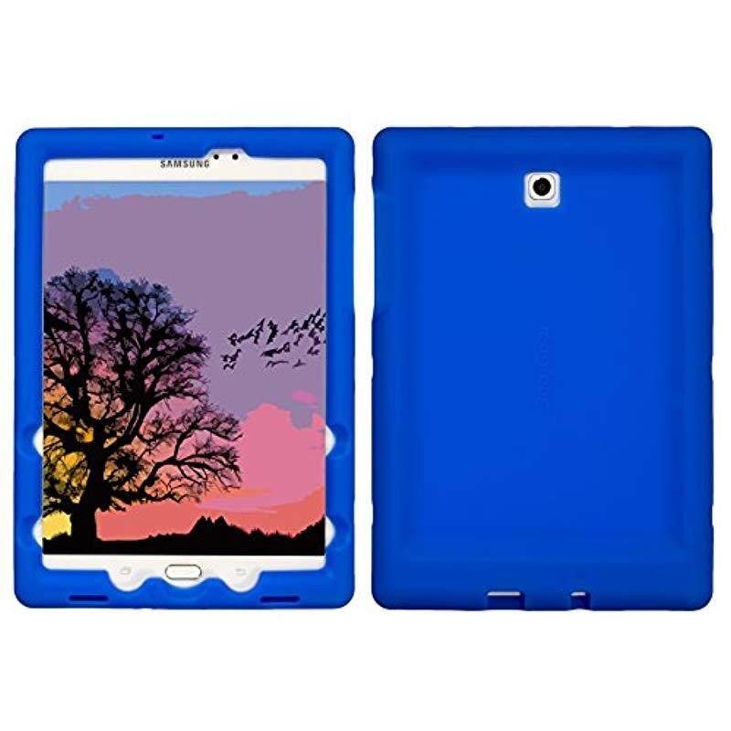 Bobj Rugged Case for Samsung Galaxy Tab S2 8.0 Tab S2 Nook 8 - BobjGear Custom Fit - Patented Venting - Sound Amplification - BobjBounces Kid Friendly (Batfish Blue)
