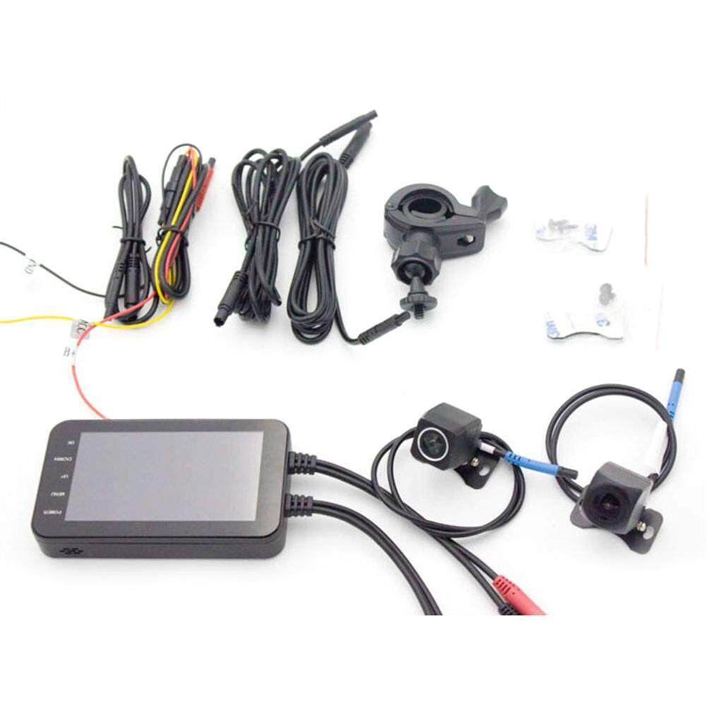 Motorcycle Electric Car Dedicated Driving Recorder Front Rear Dual Lens Wide Angle 1080P HD Wifi Wireless Driving Recorder