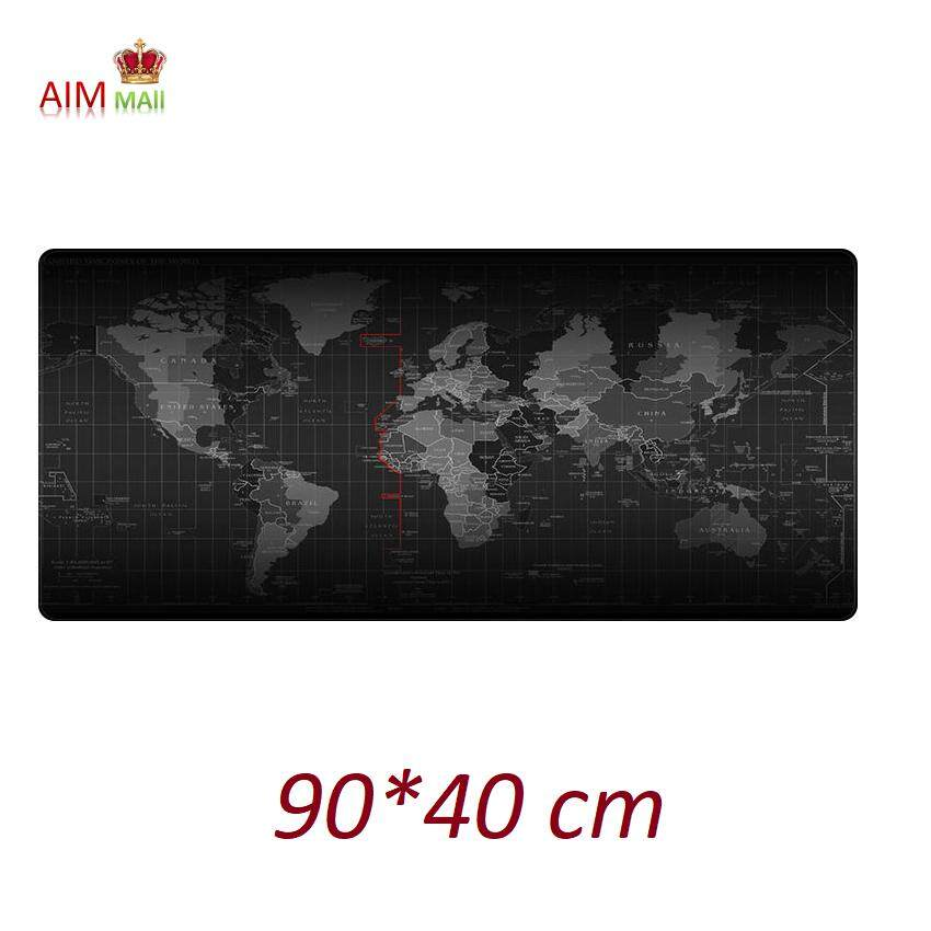 World Map 90*40cm Extra Large size Smooth Surface and Anti-Slip Gaming Mouse pad Malaysia