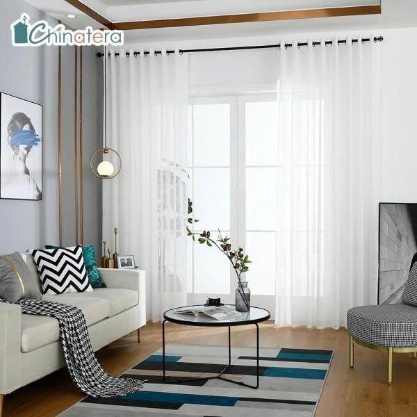 Rèm Cửa Sổ Chinatera Bằng Vải Tuyn, 1 Tấm Rèm Cửa Sổ Trong Mờ Đơn Giản Hiện Đại Cho Phòng Khách Phòng Ngủ