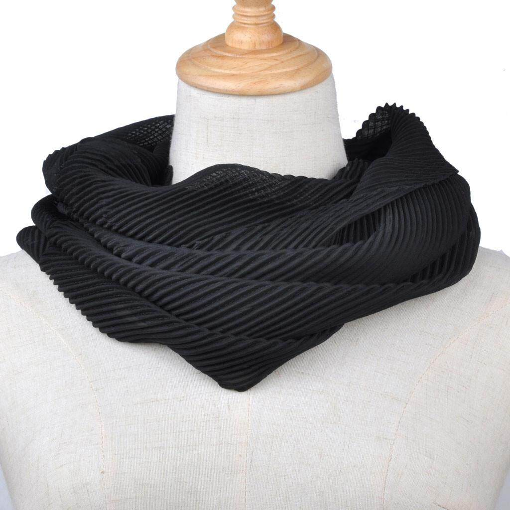 visitmini shop Women Soft Chiffon Solid Convertible Infinity Loop Scarf Scarves