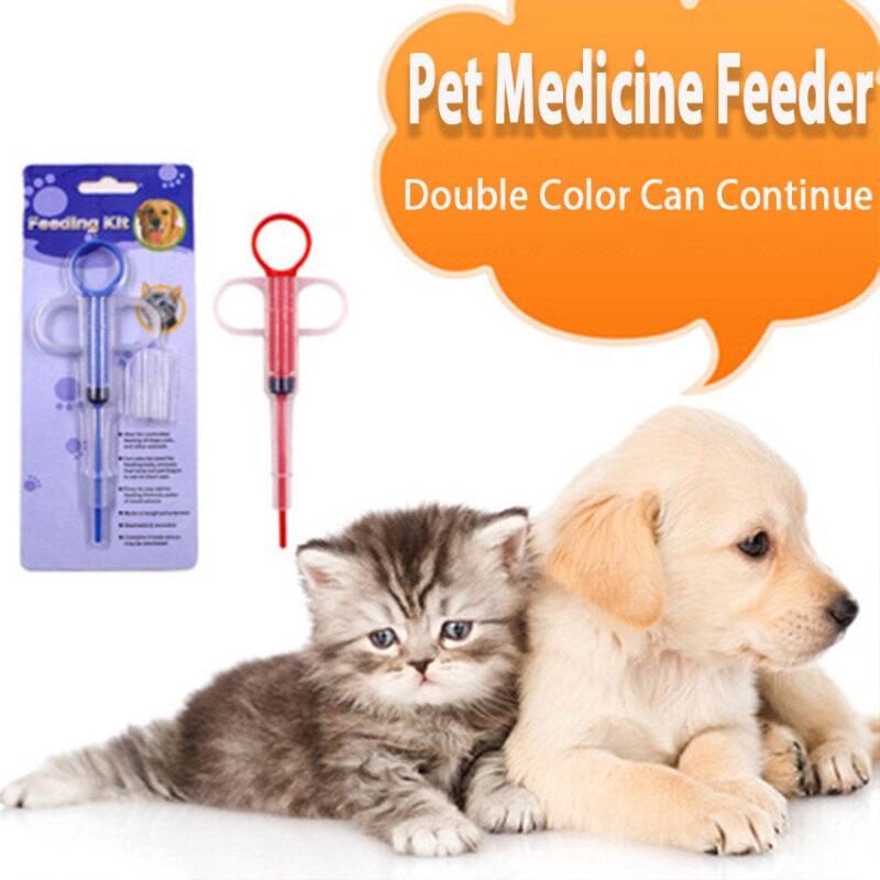 Jianjia28 Khay Đựng Thuốc Cho Thú Cưng Cho Chó Mèo Dụng Cụ Đẩy Thuốc Uống Nước Thông Dụng Cho Gia Đình Dụng Cụ Cho Thú Cưng Ăn Ống Động Vật