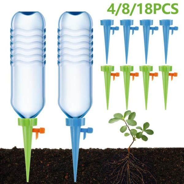 Watering Spikes Self Watering Devices Automatic Drip Irrigation Spikes Adjustable Plant Flower Waterer Garden Self Watering Device Automatic Drip Spikes Automatic Plant Waterer