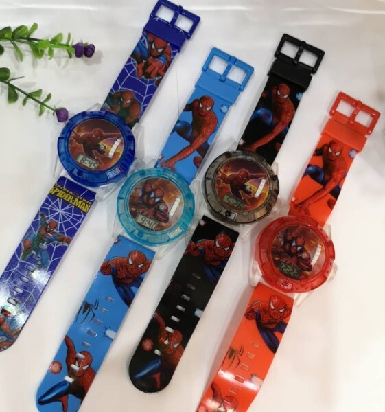 💥readystock💥 Spiderman Projector watch music light jam budak projection lampu muzik Malaysia