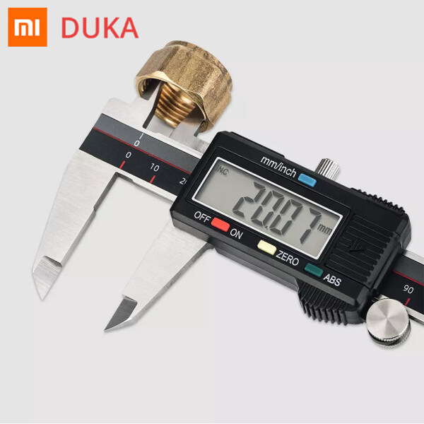 Xiaomi Ecological Chain DUKA CA2 Electric Caliper 6 Inch 150 MM High Precision Measuring Ruler LCD Digital Display IP54 Waterproof Dust-proof Stainless Steel Caliper Metric-British Switching Micrometer Accuracy Measuring Tool For Home Industry