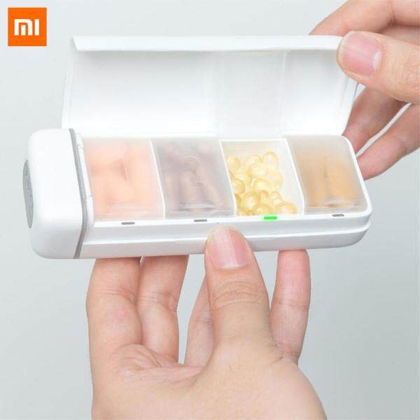 Original Xiaomi Mijia HiPee Smart Reminder Travel Pill Case 4 Grid Medicine Organizer Container Pills Storage Box Control by WeChat APP Gift for Parent