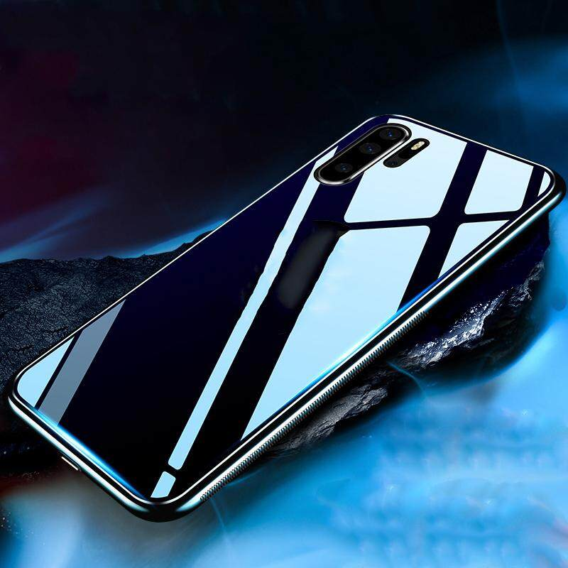Case For Huawei P30 Pro Casing【Tempered Glass】Shockproof Hard Glass Protective Phone Back Cover