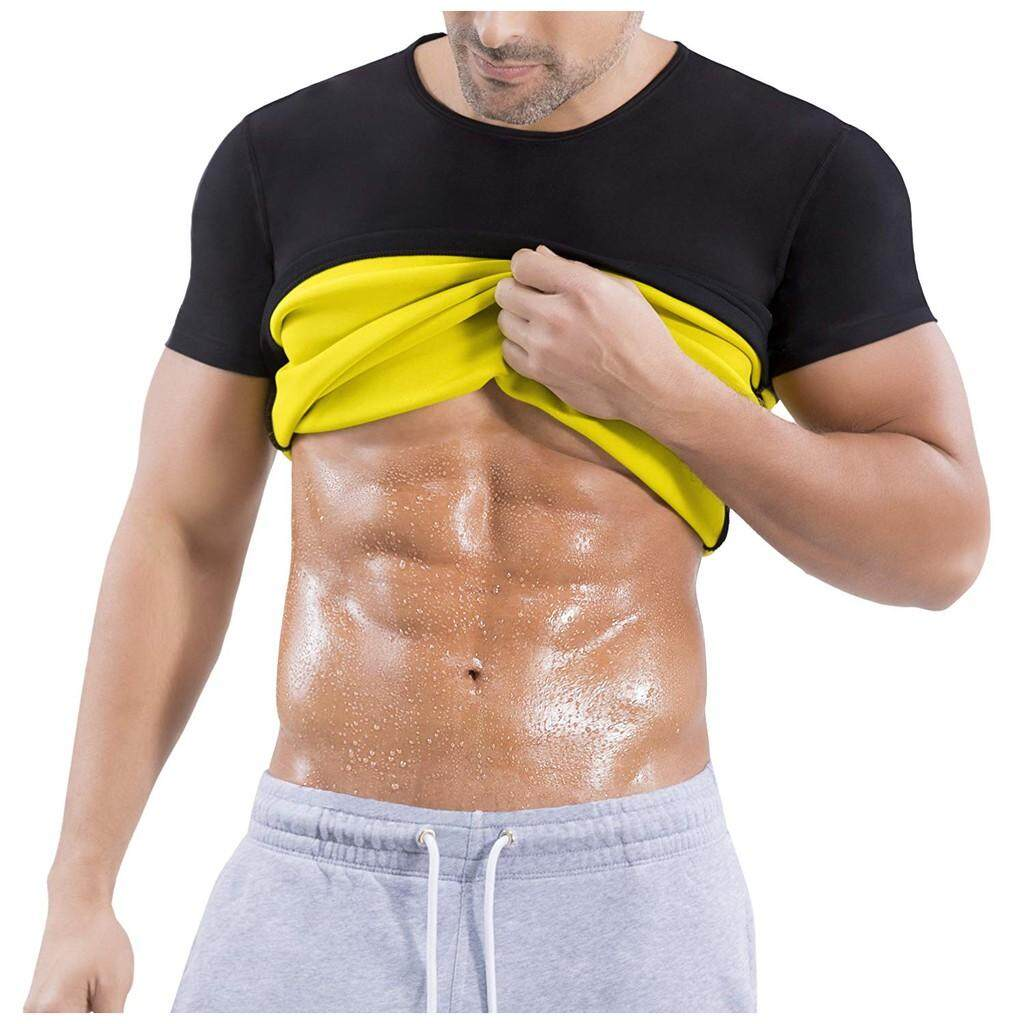 Mens Hot Sweat Body Shaper Workout Top Slimming Vest Weight Loss Shapewear By Sqs.
