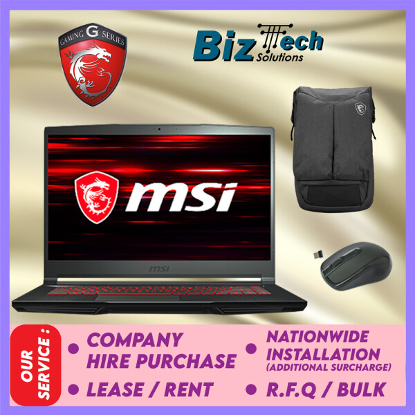 MSI GF63 Thin 10SCXR-047MY Commercial Laptop Leasing Rental Hire Purchase Installment Malaysia