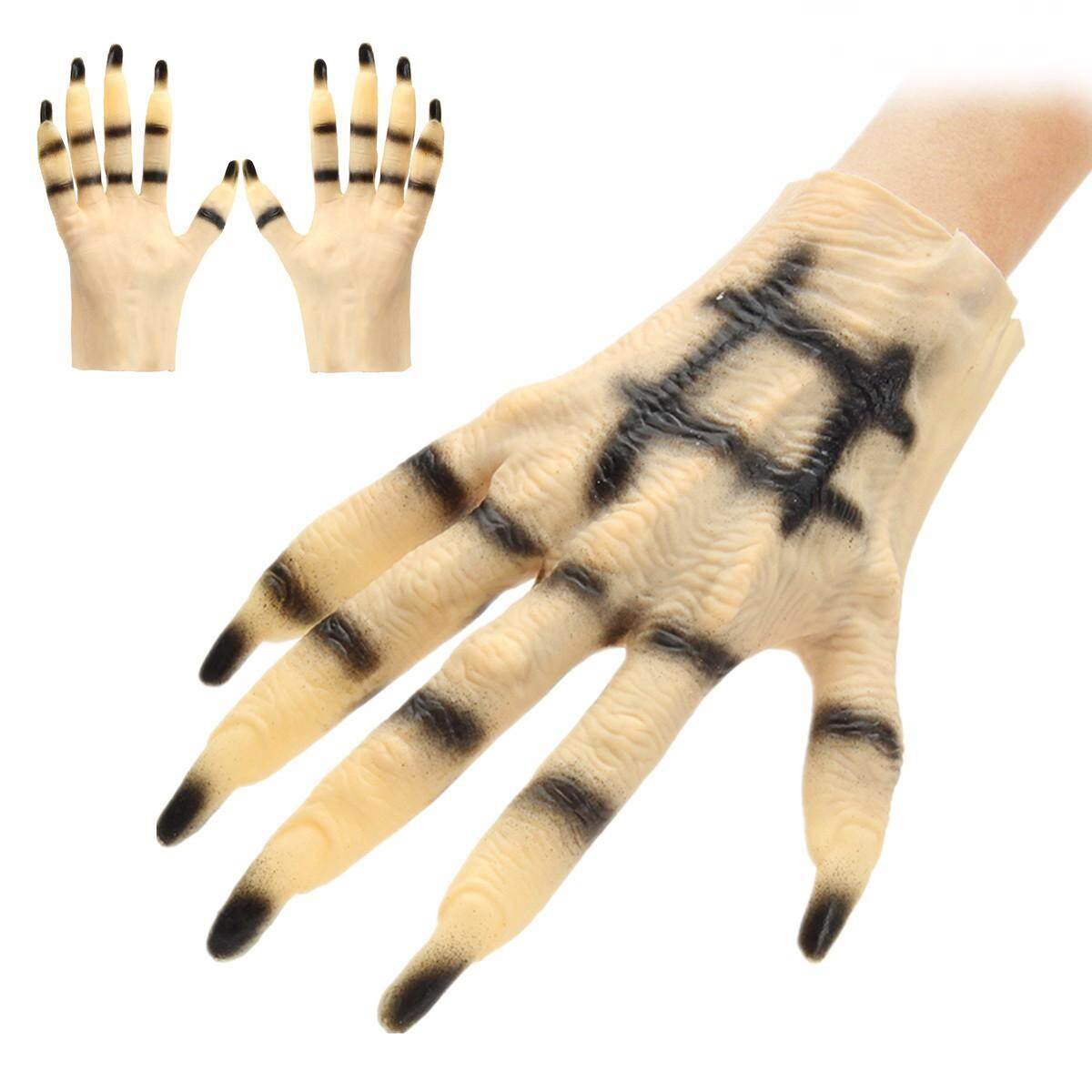 Halloween Cosplay Horror Monster Devil Wolf Paws Claws Hand Latex Gloves Unisex By Vividly.