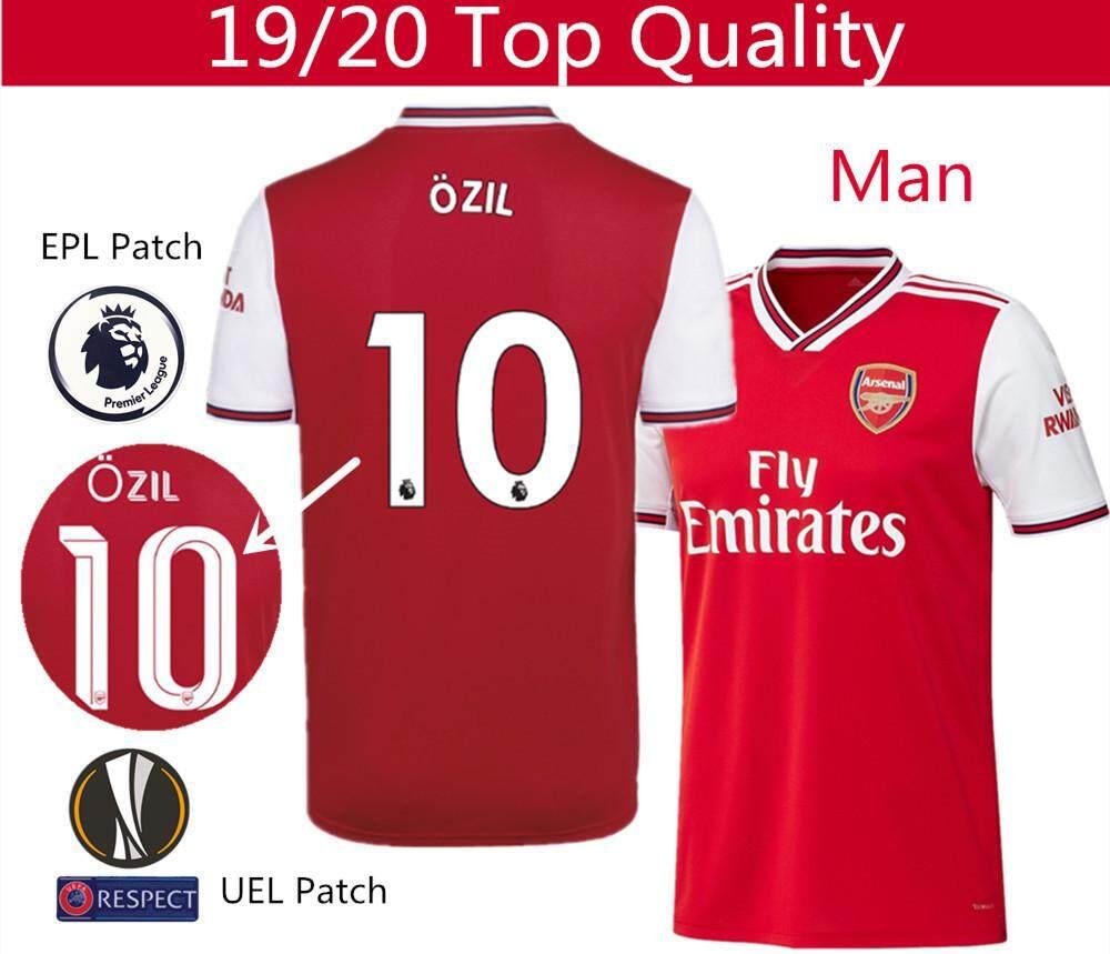 hot sale online e6d1c 2d8bd Top Quality 19/20 Arsenal Football Jersey Lacazette 9 Özil 10 Aubameyang 14