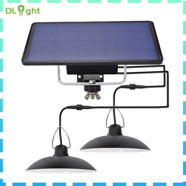 Đèn LED Treo Năng Lượng Mặt Trời Hai Đầu, Đèn Vườn Ngoài Trời Chống Thấm Nước IP65