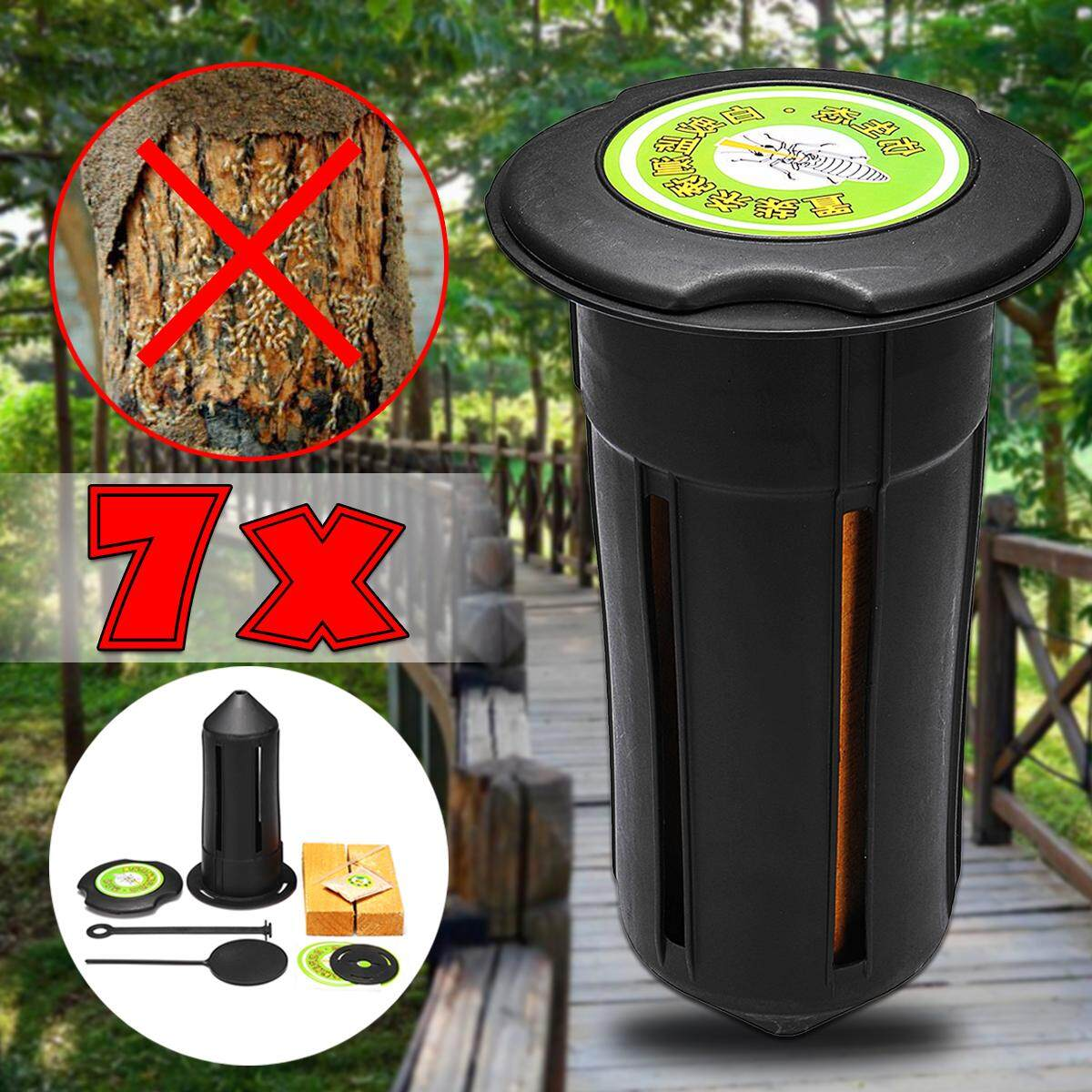 【Free Shipping + Flash Deal】7X Termite Control Bait & Monitoring Station System Monitor Underground Trap Box