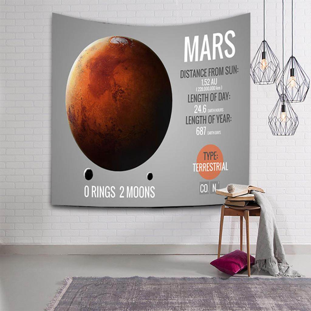 Malonestore Solar System Tapestry Planets Arround Sun in Universe Wall Hanging Space Tapestries Party Wall Decor