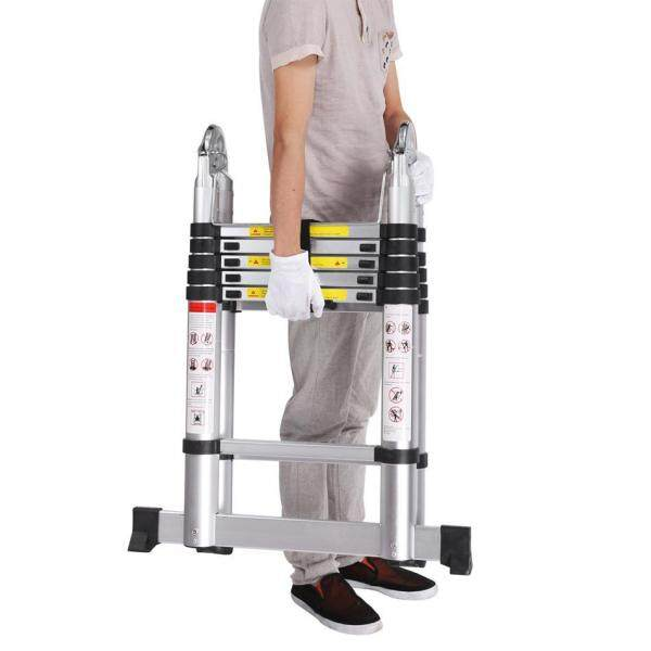 3.8M Double Sided Multi-Purpose Aluminium Telescopic Extendable Folding Ladder