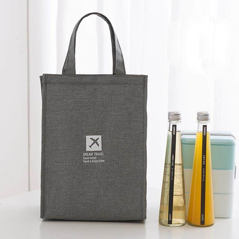 Portable Insulated Thermal Cooler Lunch Bag Waterproof Carry Tote Picnic Case Oxford Storage Bags Lunch Box Bags25x35x17cm.