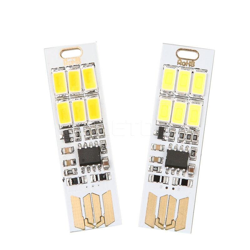 Bảng giá 2 Cái Nguồn USB Mini 6 Đèn LED Bỏ Túi Đèn Dạng Thẻ Ban Đêm Cơ Động Trại Bóng Đèn Máy Tính Máy Tính Xách Tay Đèn Ban Đêm Phong Vũ