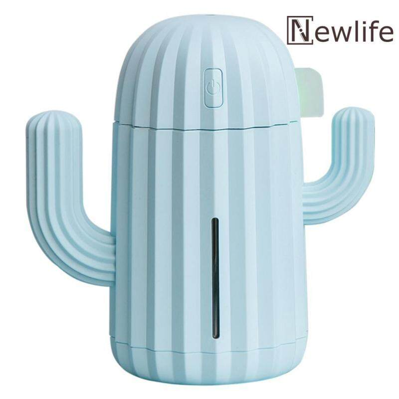 340mL Cactus USB Charging Humidifier 7 Color LED Aromatherapy Oil Diffuser Singapore