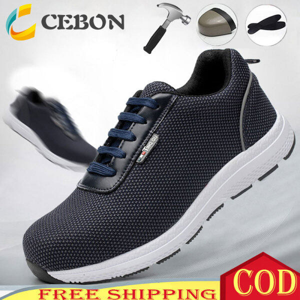 Size 35-47 Original Toe Cap Safety Shoes Men Working Safety Shoes Steel Toe For Men Kevlar Safety Shoes Labor Insurance Shoes Light Weight Casual Sport Safety Shoes Women Working Without Reben