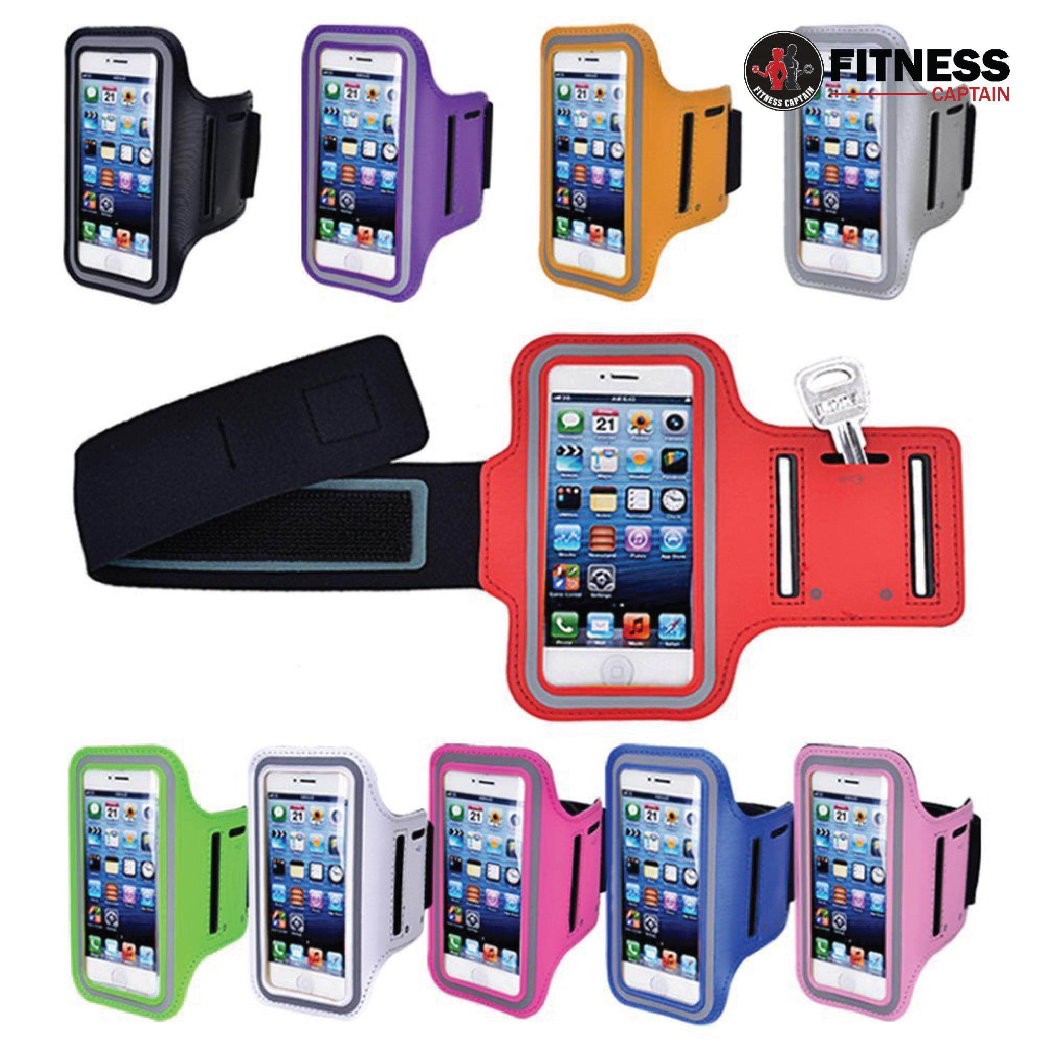 L Size (4.7) Phone Armband Bag Sports Running Jogging Gym Armband Case Cover Holder By Fitness Captain.