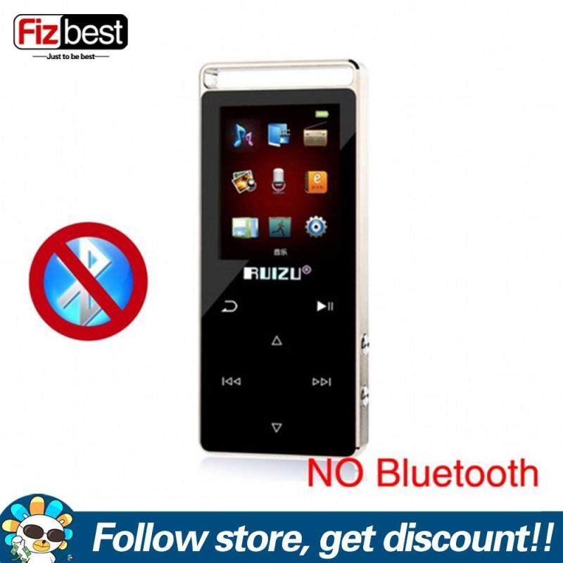 RUIZU D01 Sport MP3 MP4 Player 8GB Ultrathin Touch Screen 1.8Inch MP3 Music Player Support FM Radio Voice Recorder E-Book Clock Video Pedo Meter USB MP4 Music Player Sound Support TF Card