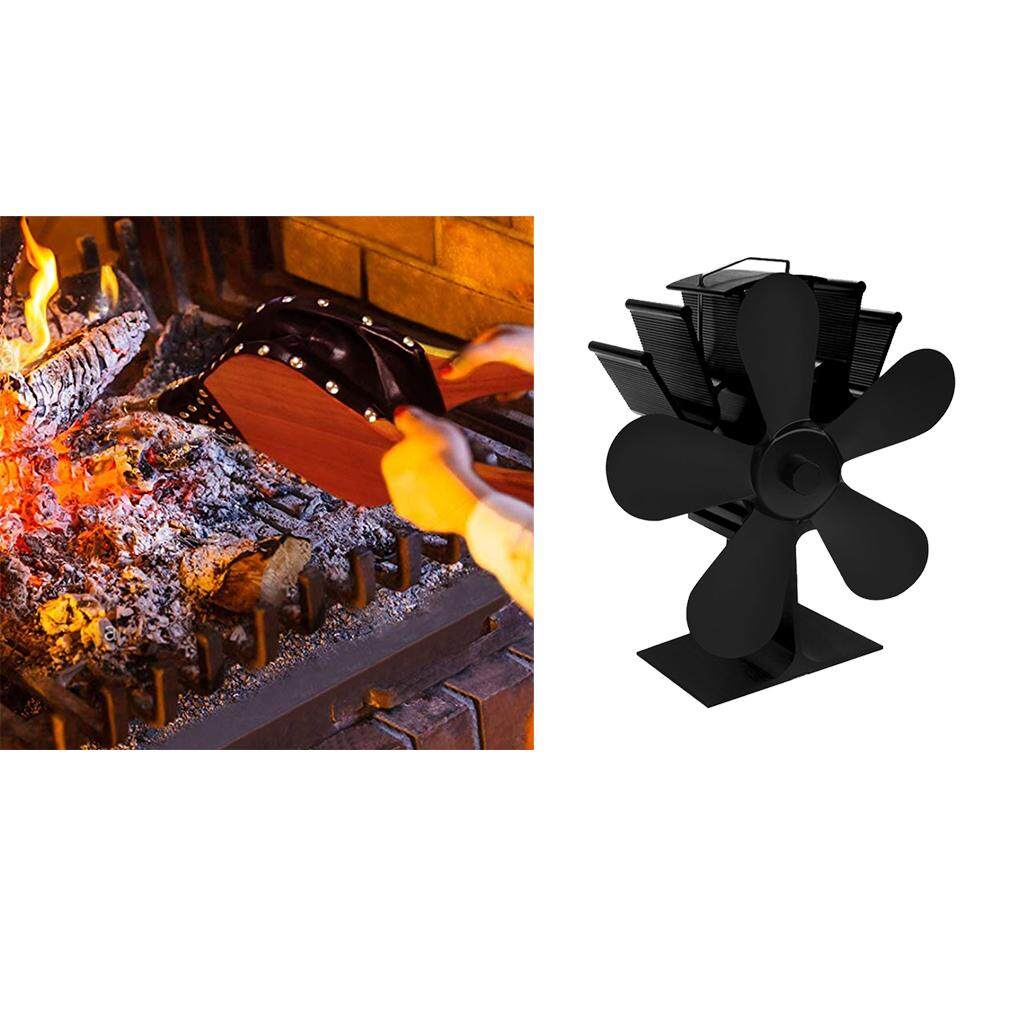 Loviver Heat Powered Stove Fan with 5 Blade +Fireplace Bellows(39x17cm)
